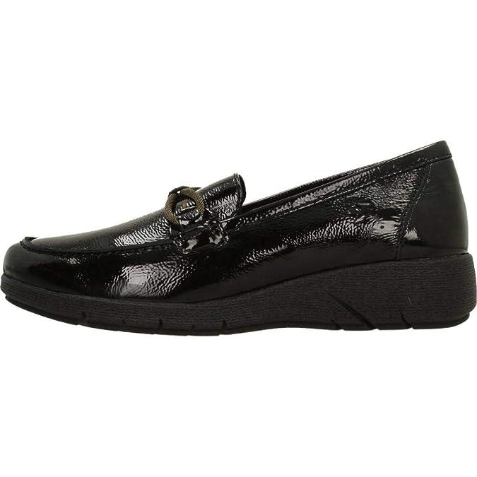 Mocasines para Mujer, Color Negro, Marca 24 HORAS, Modelo Mocasines para Mujer 24 HORAS 23862 Negro: Amazon.es: Zapatos y complementos