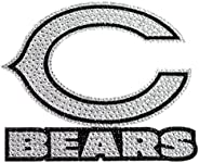 NFL Chicago Bears Bling Emblem, 6.25-inches, Silver, One Size