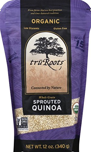 - truRoots Whole Grain Sprouted Quinoa, Certified USDA Organic, Gluten Free, 12-Ounce Bag
