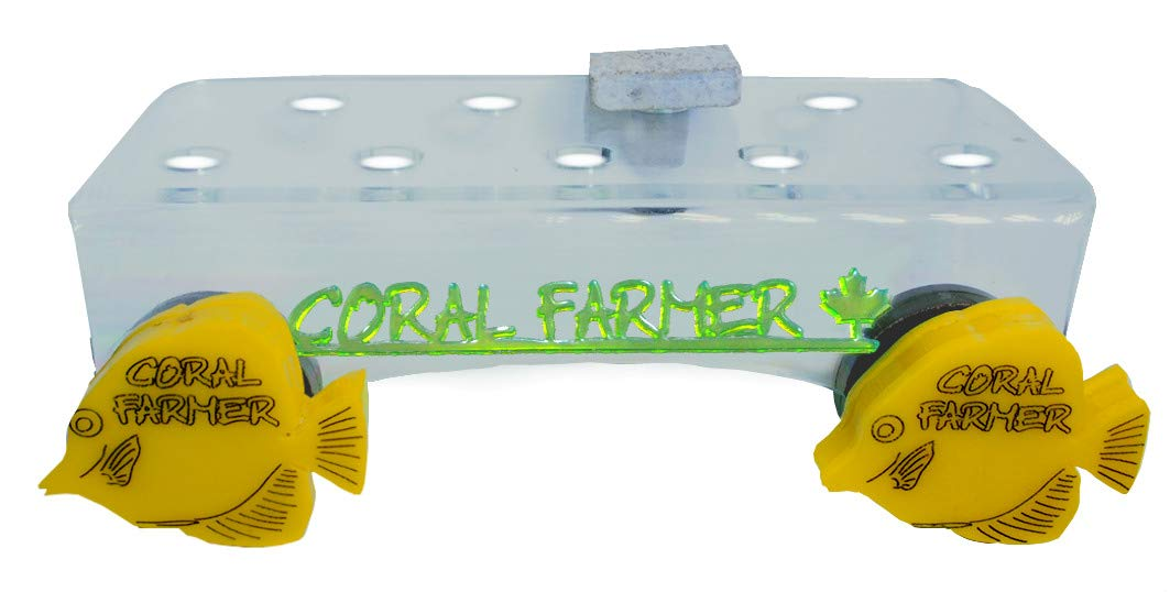 Coral Farmer 9 Hole Double Magnet Frag Rack Glass up to 3 4  Thick