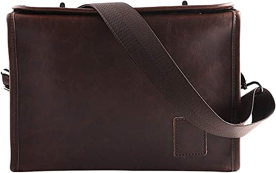 Color : Coffee Color Business Mens Leather Briefcase Messenger Bag