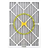BestAir PF1420-1 Furnace Filter, 14 x 20 x 1, Carbon Infused Pet Filter, MERV 11, 6 pack