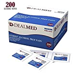 Dealmed Sterile Alcohol Prep Pads, Antiseptic Latex-Free Wipes, Gamma Sterilized, 200 Count