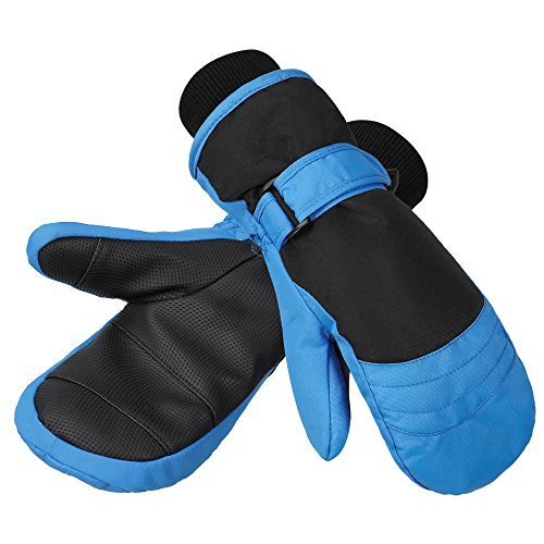 Terra Hiker Children's Ski Mittens, Water-Resistant & Windproof, Breathable Ripstop Fabric