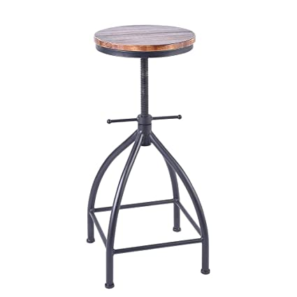 Amazoncom Vintageliving Industrial Dining Counter Stools Swivel