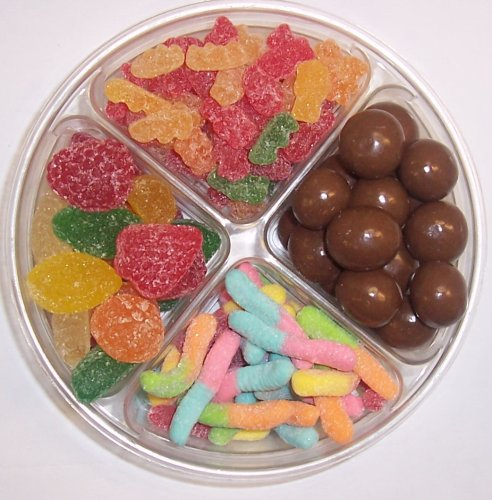 Scott's Cakes 4-Pack Chocolate Malt Balls, Sour Gummie Bears, Sour Inch Worms, & Pectin Fruit Gels by Scott's Cakes (Image #1)