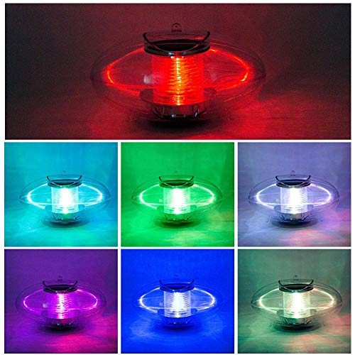 Jungles Pond Lights Solar Floating Lamp,Outdoor Fountain Pool Decorative Colorful Color Change Waterproof Ball Lamps,Built-in Solar Panels Automatic Lighting