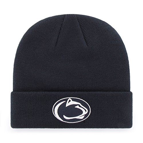 NCAA Penn State Nittany Lions OTS Raised Cuff Knit Cap, Navy, One Size