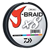 Daiwa JB8U40-300MU J-Braid Braided Line, 40 Lbs Tested, 330 yd/300M Filler Spool, Multi Color