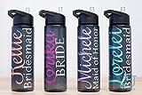 Bridesmaid Gift, 24 oz Custom Water Bottle, Bridesmaid Gift bottle