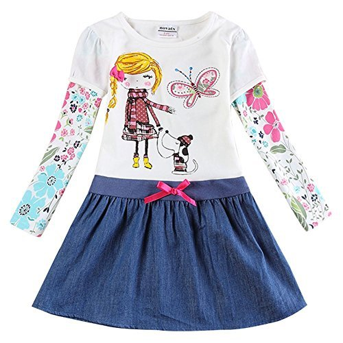 The Most Popular Girls In School Costume (Novatx Cotton Baby Girl Clothes with Sunny Girl and Animals H5926 Crea (4/5y))
