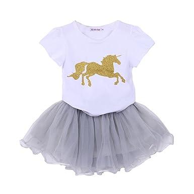 6974aa0fb485c1 Nettes zwei-Set Mädchen Kleid T-Shirt und Garn Rock Kleinkind Kind Kinder  Mädchen
