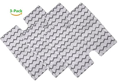 2 Pack Replacement Steam Mop Pads for Shark Lift-Away Pro Steam Pocket Mop and Genius Steam Pocket Mop Series, Model S3973 S3973D S3973WM S5001 S5002Q S5003D S5003A S6001W S6001WM S6002 S6003W