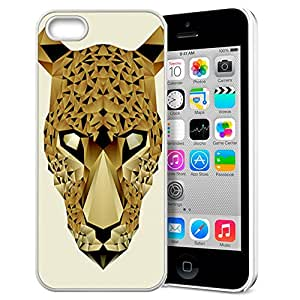 FUNNY DIY Interesting Design Abstract Animal Totems of Leopard Pattern HD Durable Hard Plastic Case Cover for Apple iphone 5/5s