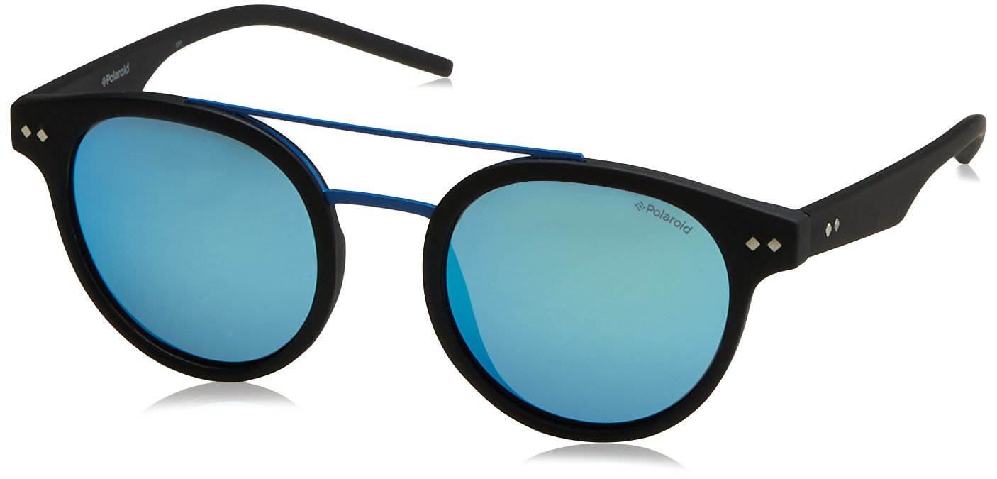 Polaroid PLD6031/S 003 Matte Black PLD6031/S Round Sunglasses Polarised Lens Ca by Polaroid