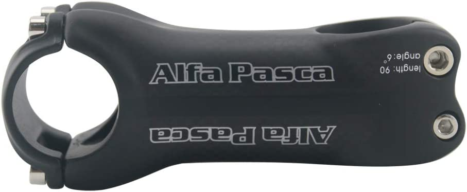 Alfa Pasca Potence Guidon Velo Potence Carbone Velo V/élo Stem Carbon Route VTT 70//80//90//100//110//120//130mm 6//17 Degr/é 3K Rouge Mat 31.8
