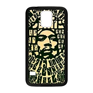 Jimi Hendrix Cell Phone Protector for Samsung Galaxy S5 Plastic and TPU (Laser Technology)