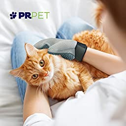 PR Pet Dog and Cat Grooming Glove Brush Eliminates Shedding and Matting In A Way They Will Love