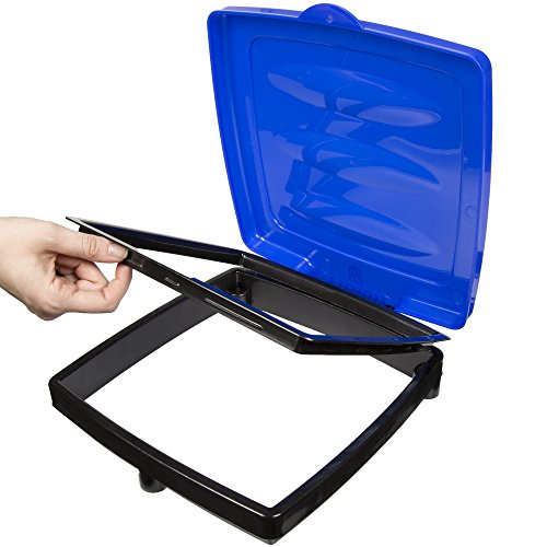 wakeman outdoors portable garbage trash bag holder blue new ebay. Black Bedroom Furniture Sets. Home Design Ideas