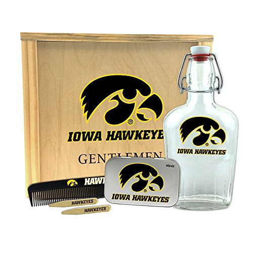 Worthy Promotional NCAA Iowa Hawkeyes Gentlemen's Gift Box 1-250 ml Glass Swing-Top Bottle, 10