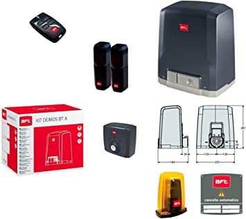BFT Kit Deimos BT A400 Puerta corredera 400 kg R925266 00002 ml 014: Amazon.es: Bricolaje y herramientas