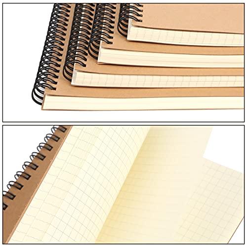 HAKACC A5 Spirale Notizblock, 4 Stück Klein Notizbuch 80 Blatt Notizheft Skizzenblock Journal Tagebuch Schreibblock Zeichenblock