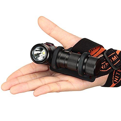 USB Rechargeable Headlamp,CREE XP-L V5 LED Super Bright LED Headlamp with Rechargeable 18650 Batteries-nitenumen H01 by NITENUMEN (Image #3)