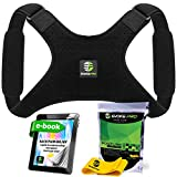 Back Posture Corrector for Women and Men + Resistance Band by Evoke Pro - Trains Your Back Muscles to Prevent slouching and Provides Back Pain Relief … (Regular + Armpit Pads)