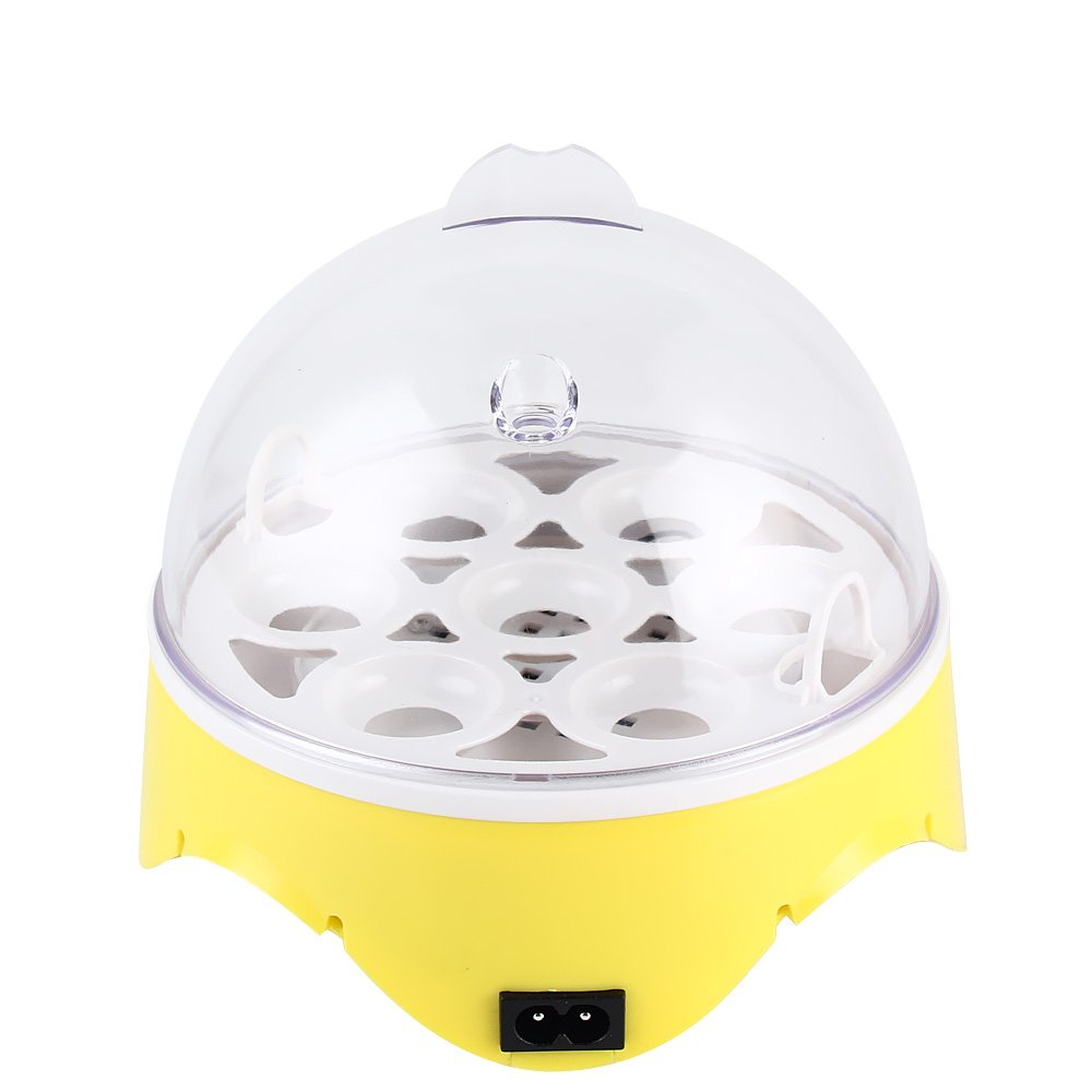 TOPCHANCES Egg Incubator 7 Eggs Mini Digital Semi Automatic Egg Hatcher for Chicken Goose Duck Poultry Hatcher Clear Temperature Control Paramount City