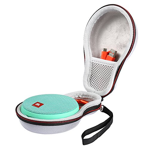 Poschell Case for JBL Clip 2 Waterproof Portable Bluetooth Speaker EVA Hard Travel Carrying Case Bag Fits USB Cable and Charger Grey