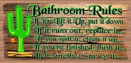 Bathroom Rules - Bathroom Decor ()
