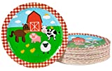 Farm Birthday Party Supplies, Farmhouse Plates (9 in., 80 Pack)