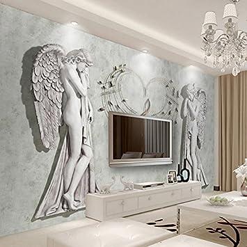 Jonp Custom 3D Fototapete Europäischen Engel Kunst Wandmalerei  Wandverkleidung Modernes Wohnzimmer Schlafzimmer Tv Hintergrund Wandbild  Dekor