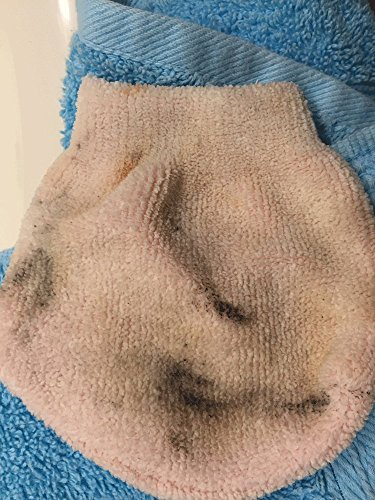 MicrodermaMitt® Makeup Remover Mitt - Chemical Free Mitt Removes Every Trace Of Makeup With Just Water Promoting Healthy Skin - Hypoallergenic