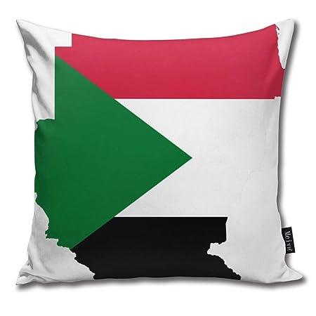 June flower Sudan Flag Map Polo Style Cotton Linen Home Decorative ...