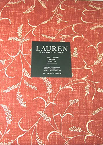 Ralph Laurent Wild Sprigs Floral Tablecloth 60 x 104 100% Co