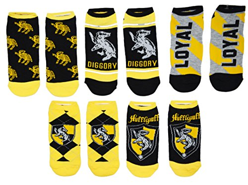 Harry Potter 5 Pack No Show Ankle Socks (Hufflepuff)