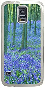Bluebells-In-The-Forest Cases for Samsung Galaxy S5 I9600 with Transparent Skin