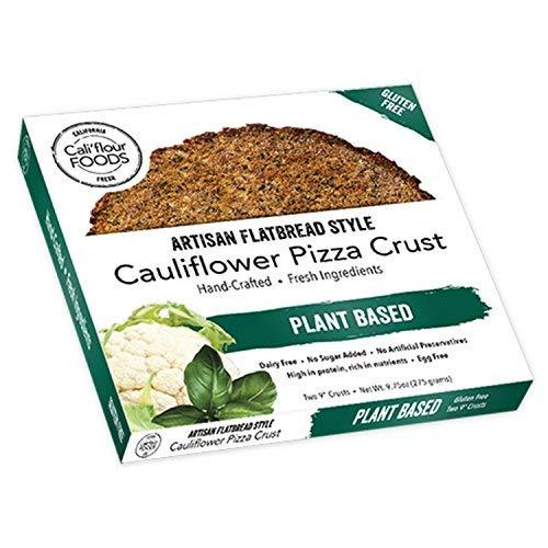 CALI'FLOUR Plant Based Cauliflower Pizza Crust, 2 Count by THE NEW WHITE FLOUR CALIFLOUR FOODS