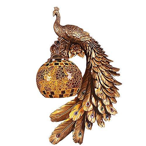 - Bracket Light/Wall Hanging Lamp,Modern Simplicity Style,Resin Crystal Glass Phoenix Wall Decoration Lamp, 1E27 Gold, BOSSLV