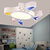 BGmdjcf Children's Room light modern minimalist boys aircraft cartoon creative LED Ceiling lamps light Kids Rooms lights bedroom ,LED36W switch 4 document color palette
