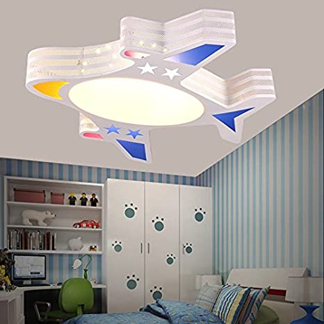Lovely BGmdjcf Childrenu0027s Room Light Modern Minimalist Boys Aircraft Cartoon  Creative LED Ceiling Lamps Light Kids Rooms