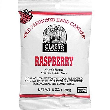 Claey's Raspberry Old Fashioned Hard Candies 6 oz. (Pack of 2)