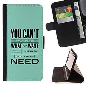 Momo Phone Case / Flip Funda de Cuero Case Cover - ?No lo que quieren los azules cielos texto Inspiring - HTC DESIRE 816