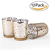 IB SOUND Votive Candles Holders, 2.75'' H Votive Tealight Candle Holders Ideal Gift for Spa, Aromatherapy, Weddings, Tealights, Votive Candle Gardens (PACK12)