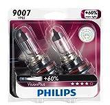 headlights for 99 dodge ram 2500 - Philips 9007 VisionPlus Upgrade Headlight Bulb, Pack of 2