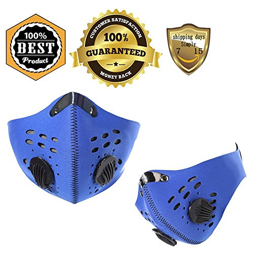 [Rockbros Bike Cycling Anti-dust Half Face Mask with Filter Neoprene Size L(blue)] (Epic Halloween Costumes For Men)
