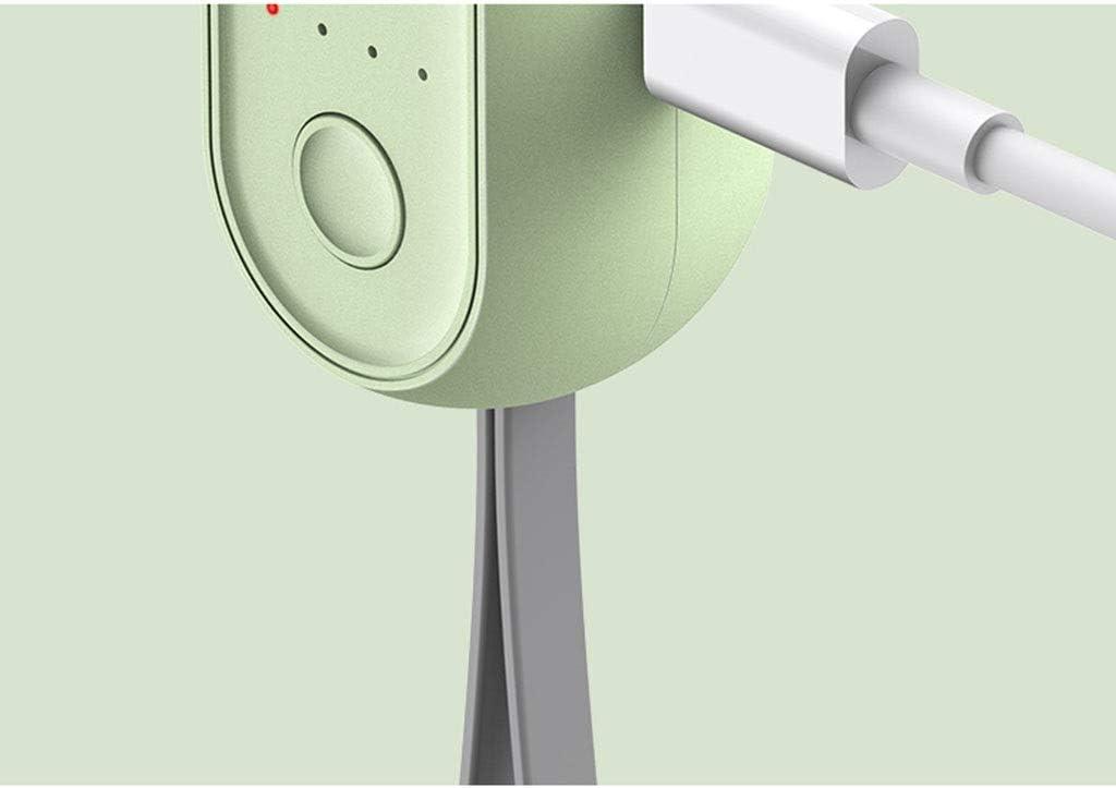 Color : Green CJW Small Fan Portable Handheld Small Student Dormitory Mini USB Mute Portable Folding Charging Fan