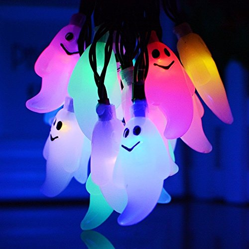 FuriGer Solar Garden string Lights, Outdoor Color Changing Solar Powered Glass Ball 20Led Party Light Outdoor Indoor Waterproof Solar Night Light Table Lamp for Decorations Ideal Gifts by FuriGer (Image #2)