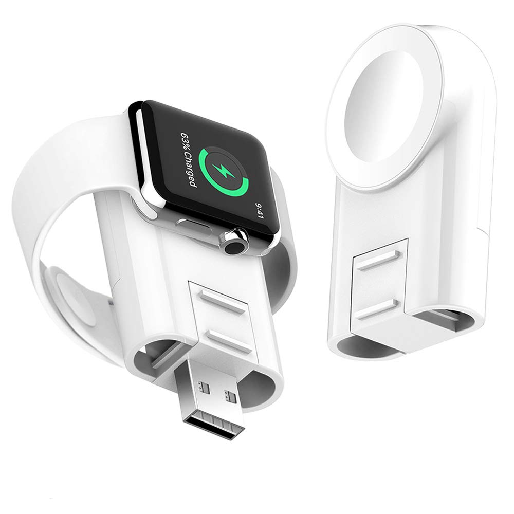 Charger for Apple Watch Wireless Portable Adjustable Magnetic Charger iWatch Travel Cordless Charge Compatible for Apple Watch Series 4 3 2 1 by CUJMH